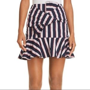 WAYF Stripes Mini Skirt